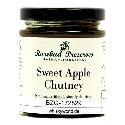 Rosebud Preserves Sweet Apple Chutney Traditonales englisches Chutney 198 Gramm