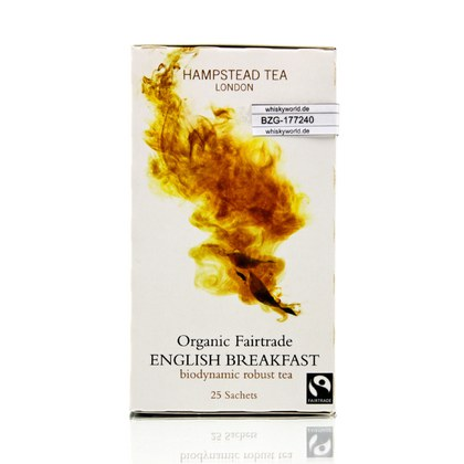 Hampstead Tea Organic English Breakfast 25 Teebeutel 50 Gramm