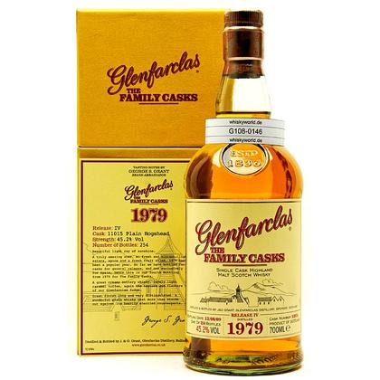 Glenfarclas Vintage The Family Casks Jahrgang 1979 Cask Strength Cask 11015 in Präsentbox mit Booklet 0,70 Liter/ 45.20% Vol