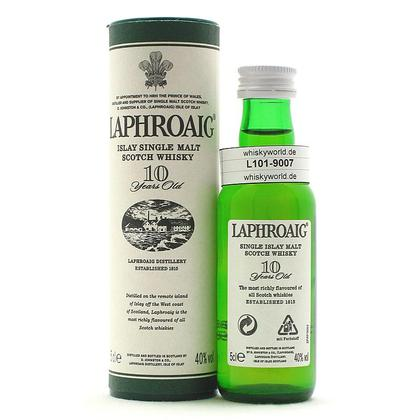 Laphroaig 10 Jahre in Tube 0,050 Liter/ 40.00% Vol