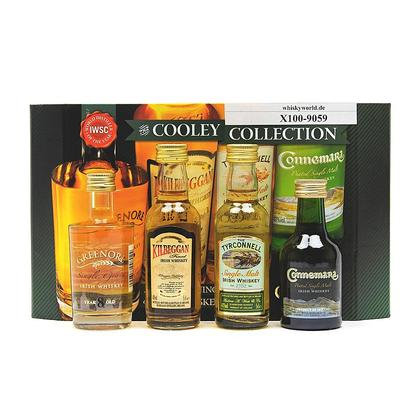 Cooley Collection in Präsentverpackung best aus Kilbeggan, The Tyrconnell, Connemara & Greenore 8 y.o. je 0,05l 0,20 Liter/ 40.00% Vol