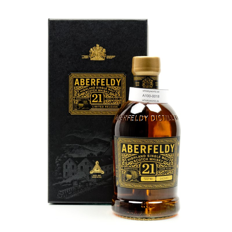 Aberfeldy 21 Jahre Matured in First Fill Casks, Refill Hogshed & Sherry Butts 0,70 L/ 40.00%