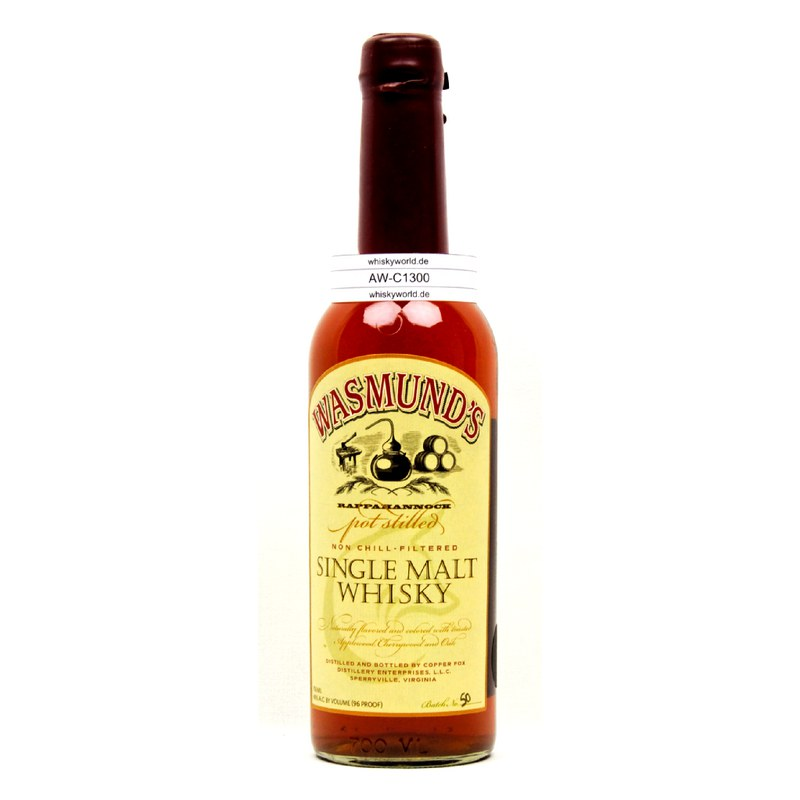 Copper Fox Wasmund`s Single Malt Whisky 0,70 L/ 43.00%