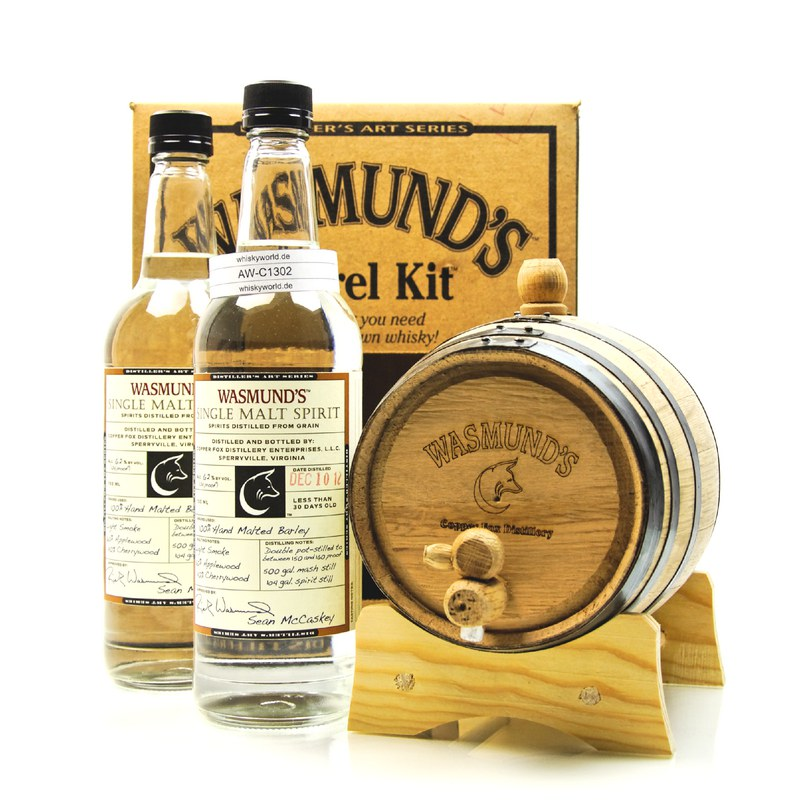 Copper Fox Wasmund`s Single Malt Barrel-Kit 2 Flaschen Single Malt Spirit 1,40 L/ 62.00%