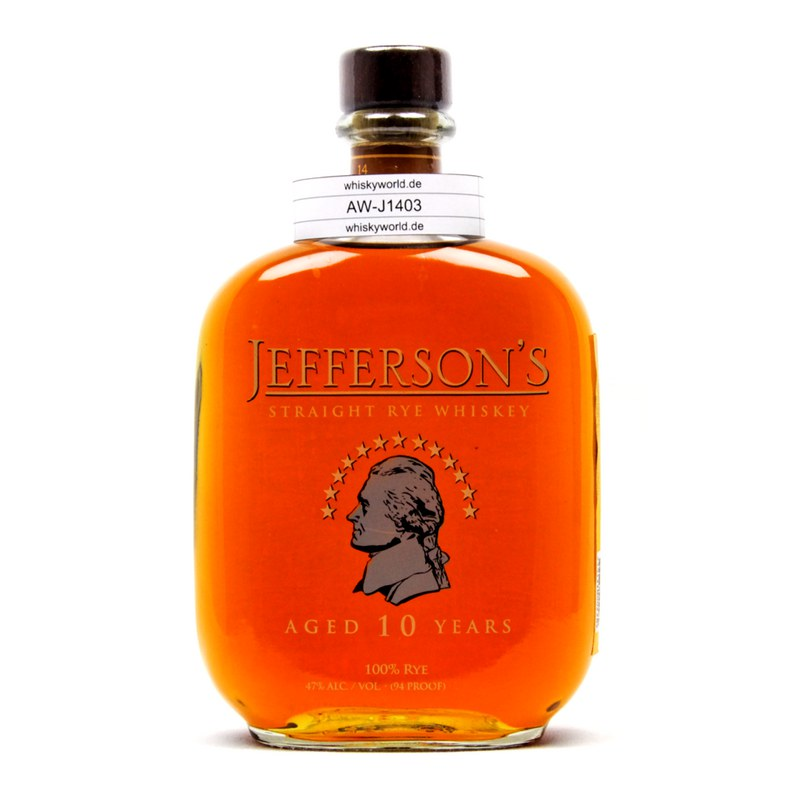 Jefferson`s Straight Rye 10 Jahre 0,70 L/ 47.00%