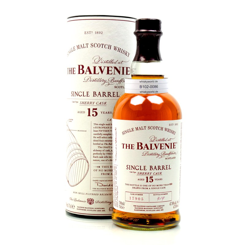 The Balvenie 15 Year Old Single Barrel Sherry Cask Scotch Review | The ...