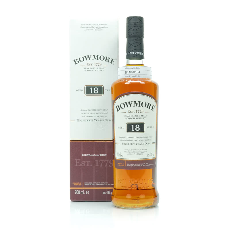 Bowmore 18 Jahre 0,70 L/ 43.00% bei Whiskyworld.de - Whisky & More