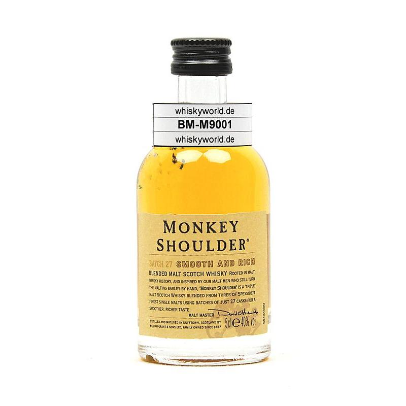 Monkey Shoulder Vatting von Glenfiddich, Balvenie & Kinivie 0,050 L/ 40.00%