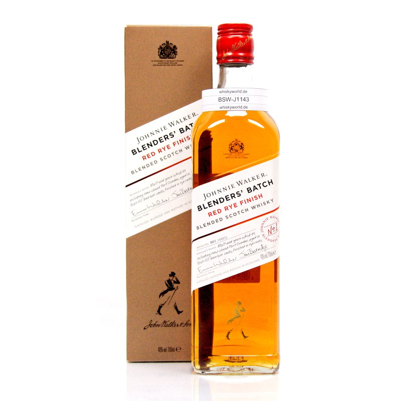 Johnnie Walker Blenders`Batch Red Rye 0,70 L/ 40.00%