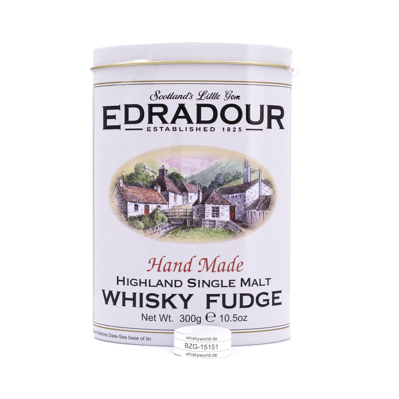Edradour Whisky Fudge mit Edradour Whisky in Blechdose 300 g/ 1.00%
