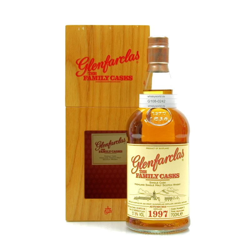 Glenfarclas The Family Casks Jahrgang 1997 Sherry Butt Cask No. 1 0,70 L/ 57.80%