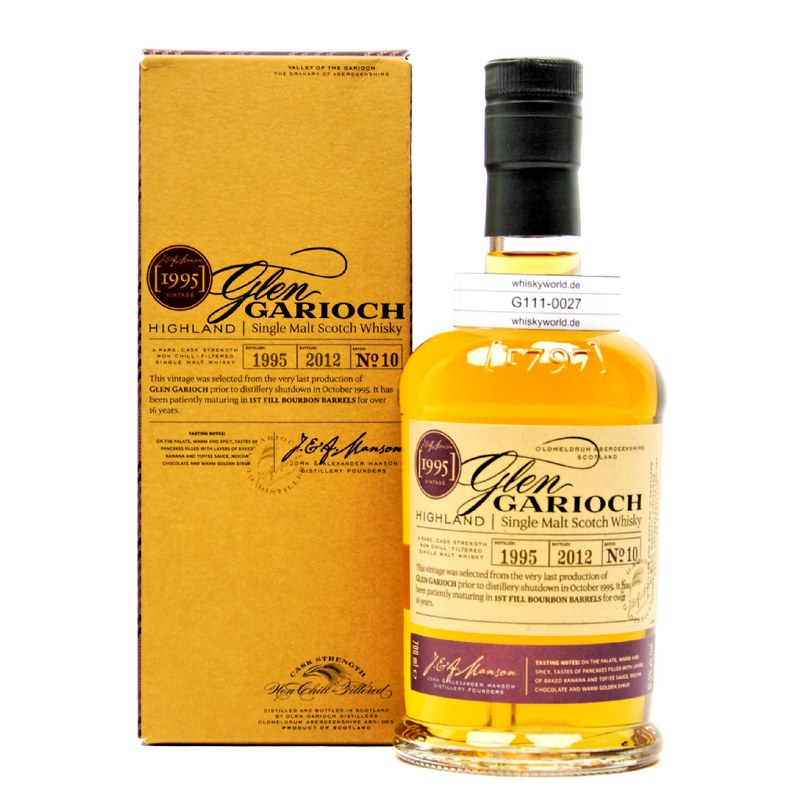 Glen Garioch Vintage 1995 Batch 10 Cask Strength