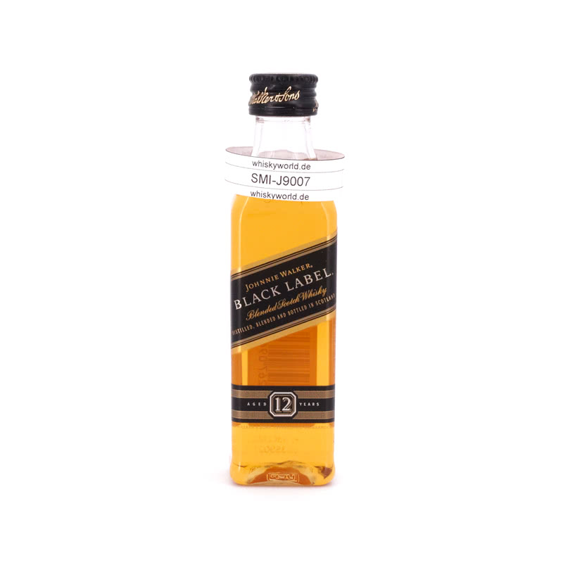Johnnie Walker 12 Jahre Miniatur Black Label PET-Flasche 0,050 L/ 40.00%