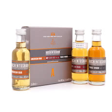 Auchentoshan Collection II Miniaturen je 0,05l American Oak, 12 Jahre, Three Wood Produktbild