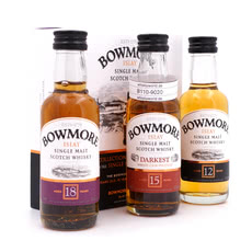 Bowmore Bowmore Collection 12, 15, 18 Jahre Miniaturen Produktbild