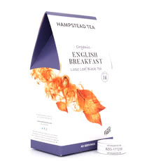 Hampstead Tea BIO Organic English Breakfast loser Tee im Spitzbeutel Produktbild