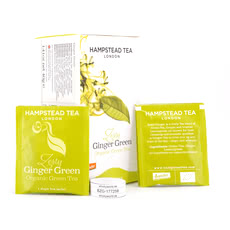 Hampstead Tea BIO Organic Zesty Ginger Green Tea 20 Teebeutel Produktbild