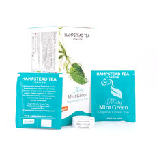 Hampstead Tea BIO Organic Misty Mint Green Tea 20 Teebeutel Produktbild