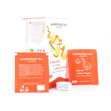 Hampstead Tea BIO Organic Lemon Ginger 20 Teebeutel Produktbild