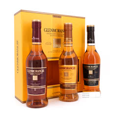 Glenmorangie Pioneering Collection beinhaltet Original 10 y.o. 40%Vol.; Lasanta 12 y.o. 43%Vol. & Quinta Ruban 46%Vol. je 0,35l Produktbild