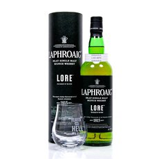 Laphroaig Lore mit Laphroaig Nosing-Glas LOVE IT or HATE IT Produktbild