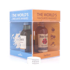 Chivas Brothers The world`s favourite whiskies Miniatur je 5cl Jameson, Four Roses, Chivas Regal 12 y.o. & The Glenlivet Founder`s Reserve Produktbild