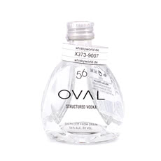 Oval 56 Structured Vodka Miniatur Produktbild