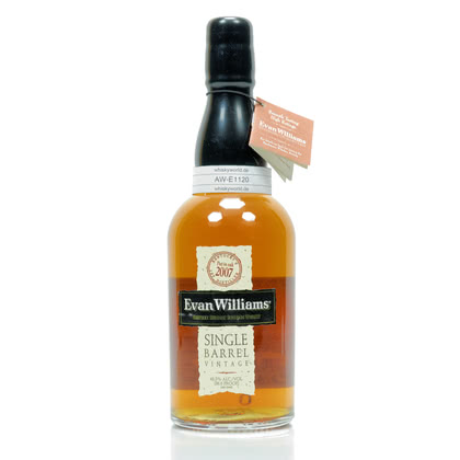 Evan Williams Singel Barrel Jahrgang 2007 43.30% 0,70l Produktbild