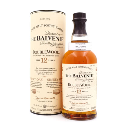 Balvenie 12 Jahre Double Wood Sherry Oak finish  0,70 Liter/ 40.00% Vol
