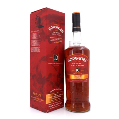 Bowmore 10 Jahre Inspired by Devil's Casks Finest Oloroso Sherry And Wine Casks Literflasche 46.00% 1l Produktbild