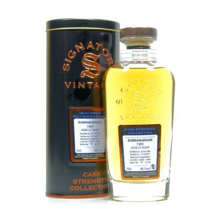 Bunnahabhain Cask strength Collection 27 Jahre Jahrgang 1989 48.70% 0,70l Produktbild