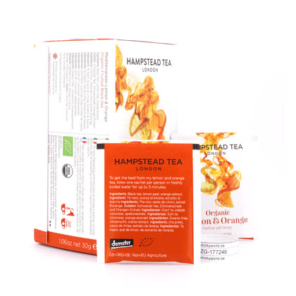Hampstead Tea BIO Organic Lemon & Orange 20 Teebeutel 30Gramm Produktbild