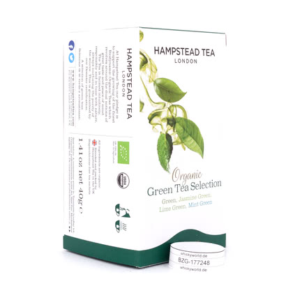Hampstead Tea BIO Organic Green Tea Selection 20 Teebeutel 40Gramm Produktbild