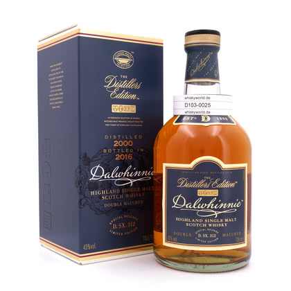Dalwhinnie Distillers Edition Oloroso Cask finish Jahrgang 2000 0,70 Liter/ 43.00% Vol