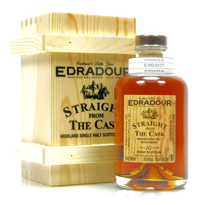 Edradour Straight from the Cask Collection Sherry Butt Jahrgang 2006 / 10 Jahre 0,50 Liter/ 59.40% Vol