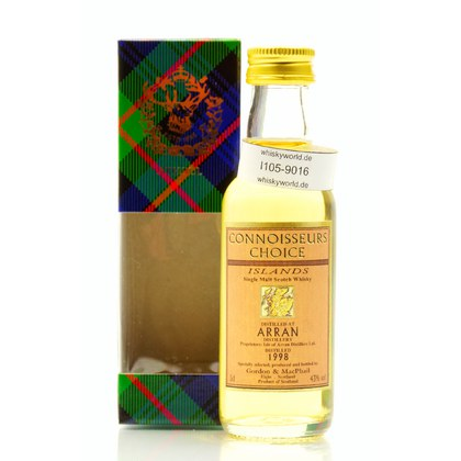Isle of Arran Connoisseurs Choice Miniatur Jahrgang 1998 0,050 Liter/ 43.00% Vol