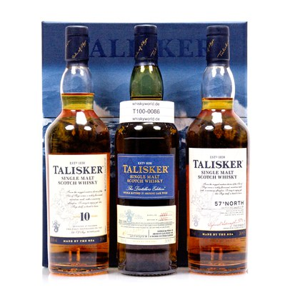 Talisker Collection best. aus 3 x 0,20l 10 y.o.; Distillers Edition je 45,8%Vol & 57°North 57,0%Vol 0,60 Liter/ 49.50% Vol