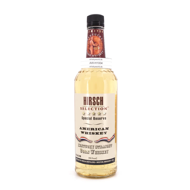 Hirsch Straight Corn Whiskey Special Reserve 0,70 L/ 45.00%