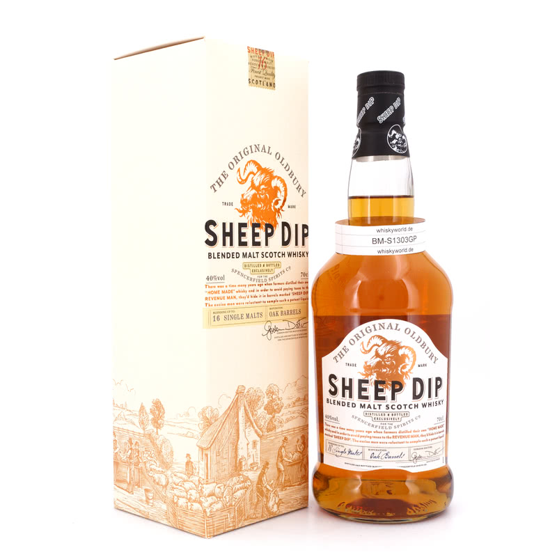 Sheep Dip The Original Oldbury Blended Malt Scotch Whisky (Umverpackung leicht 0,70 L/ 40.00%