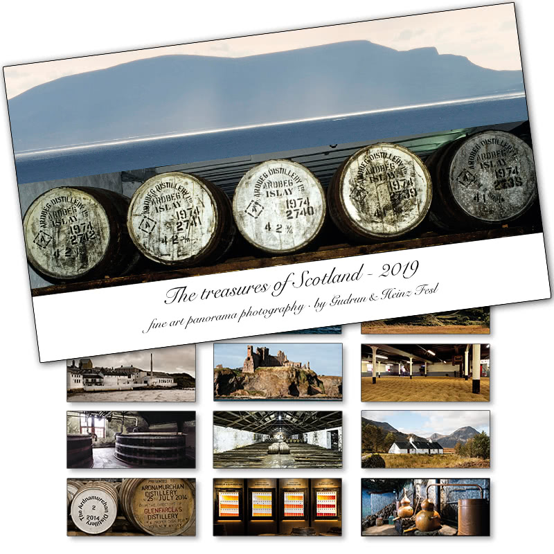 Heinz Fesl Panorama-Tischkalender 2019 The treasures of Scotland in 1 St.