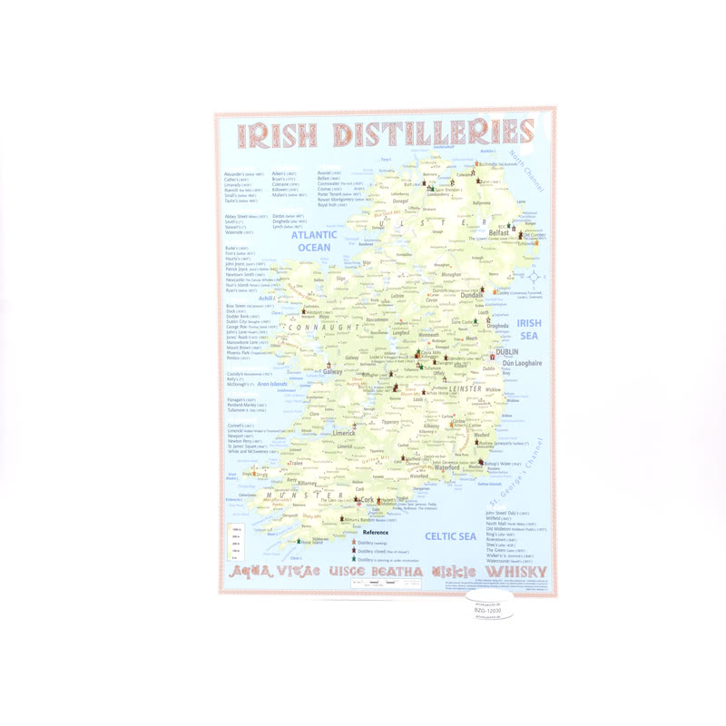 Alba-Collection Verlag Tasting Map Ireland im Format 34 x 24cm zeigt Irland 1 St.