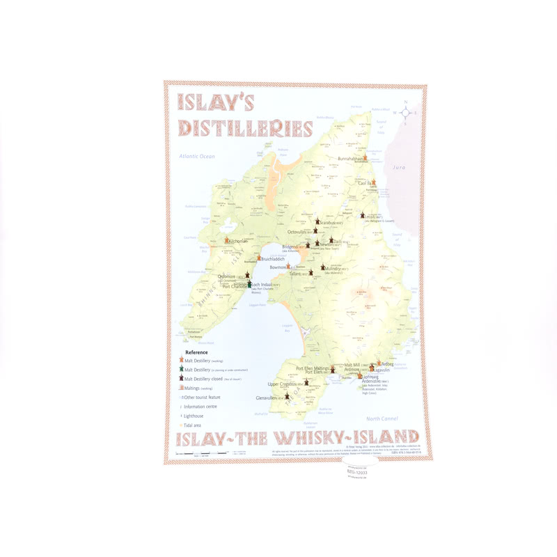 Alba-Collection Verlag Tasting Map Islay im Format 34 x 24 cm zeigt Islay mit 1 St.