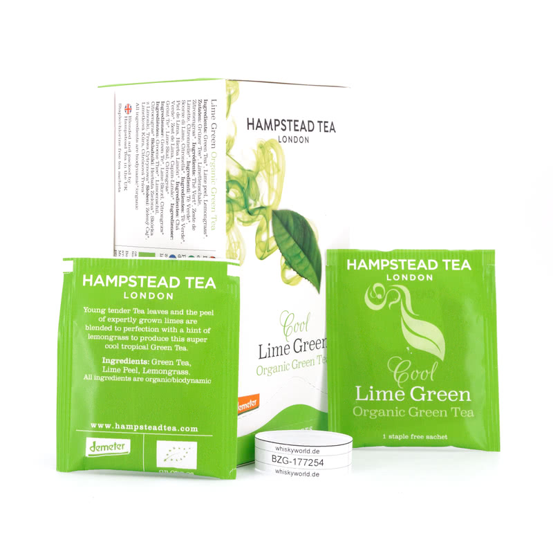 Hampstead Tea BIO Organic Cool Lime Green Tea 20 Teebeutel 40 g