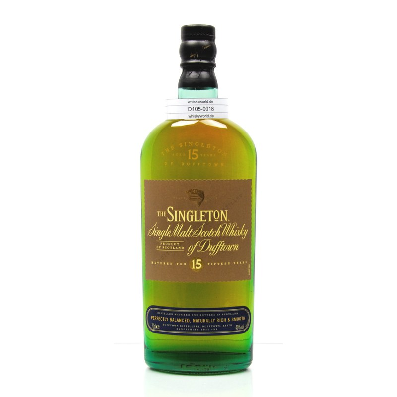 Dufftown 15 Jahre The Singleton of Dufftown 0,70 L/ 40.00%