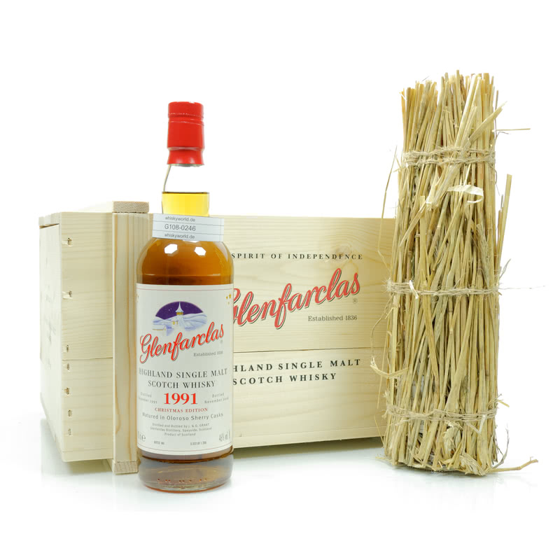Glenfarclas Christmas Malt Jahrgang 1991 Matured in Oloroso Sherry Casks Set 1,40 L/ 46.00%