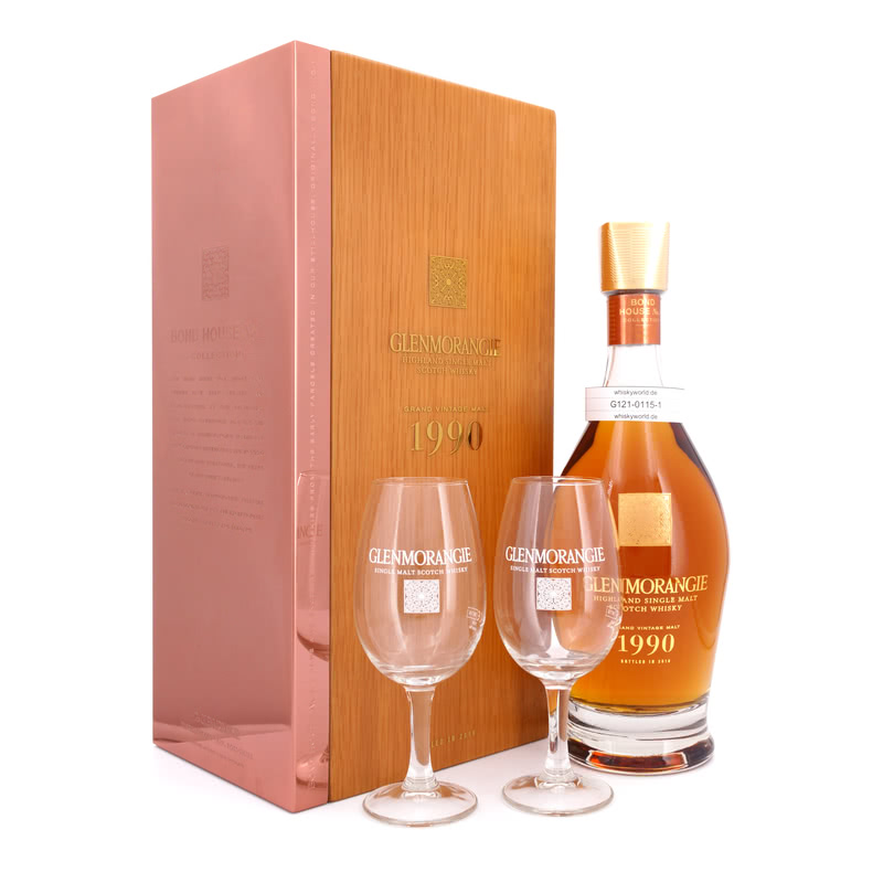 Grand Vintage Malt 1990 Bond House No. 1 & 2 Tasting Gläser (max. 0,70 L/ 43.00%