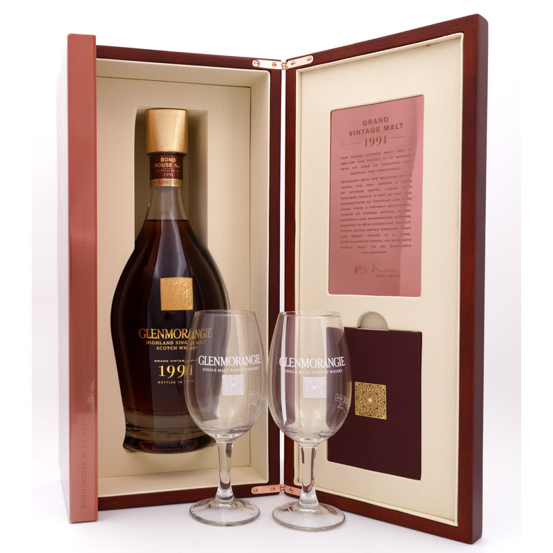 Grand Vintage Malt 1991 Bond House No. 1 & 2 Tasting Deckel-Gläser 0,70 L/ 43.00%
