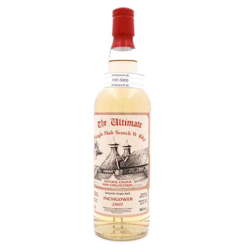 Inchgower Jahrgang 2007 10 Jahre The Ultimate Single Cask Abfüllung 0,70 L/ 46.00%