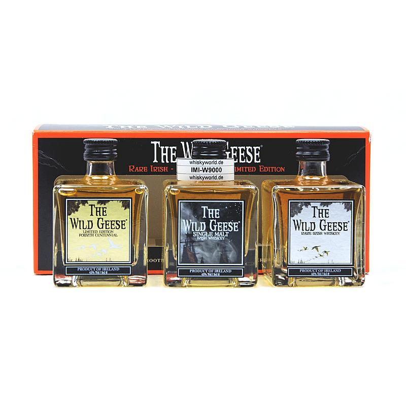 The Wild Geese Set besteht aus Rare Irish; Single Malt & Limited Edition 0,150 L/ 40.00%