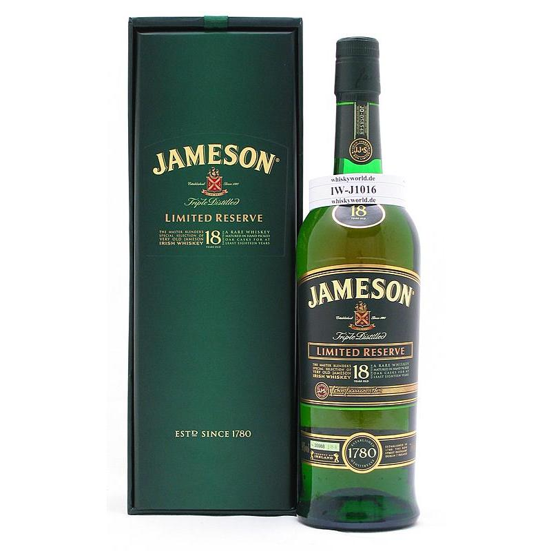 Jameson 18 Jahre Master Selection Limited Reserve 0,70 L/ 40.00%